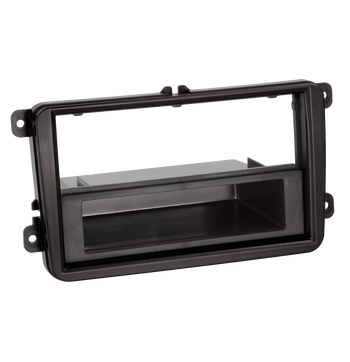 ACV 2-DIN facia plate with pocket Seat / Skoda / VW black 100621 kuva