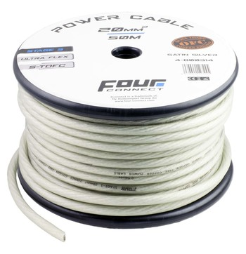 FOUR Connect STAGE3 20mm2 Satin Silver S-TOFC power cable kuva